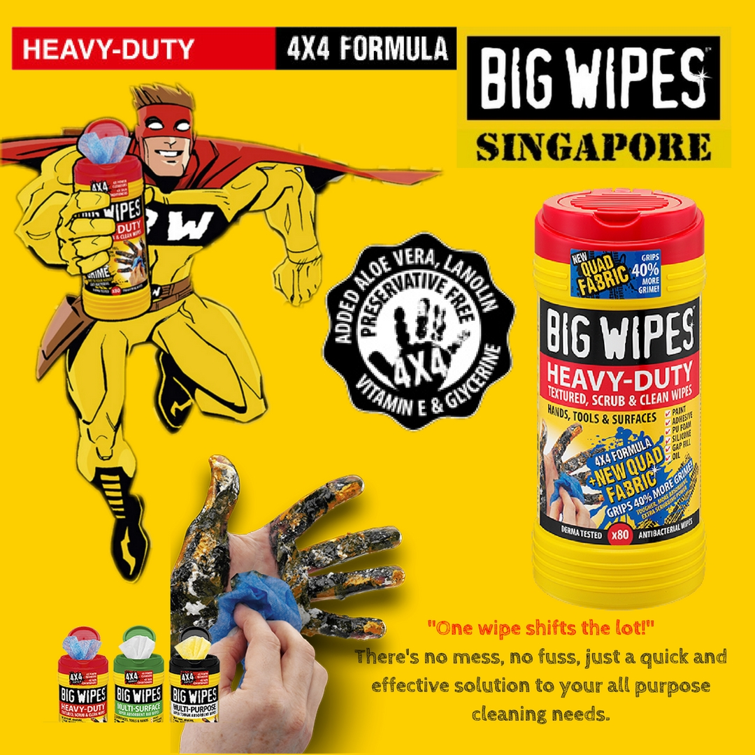 Heavy Duty BIG WIPES has ARRIVED!! Check us out to wipe it all!
